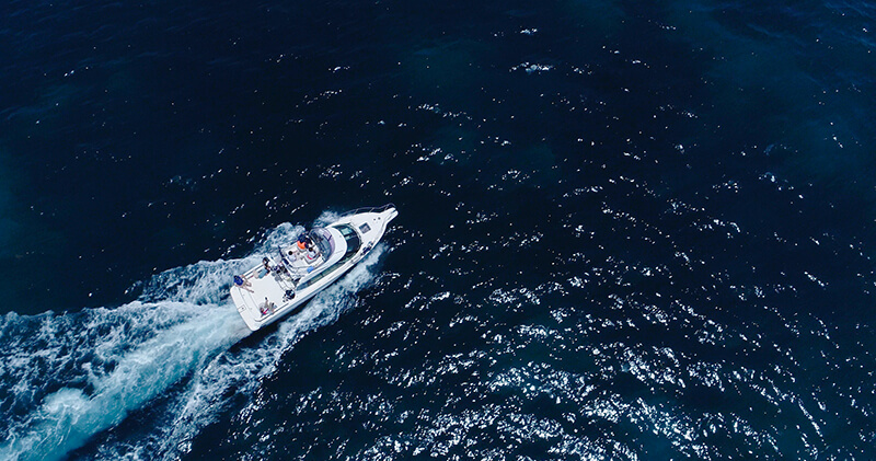 船ドローン撮影